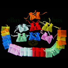 "25/50/100/200pcs Organza Pouches Jewelry Wedding Party Favor Gift Bags  4"" X 3"""