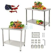 Heavy Duty Work Food Prep Table Commercial Kitchen Restaurant Janitorial Room