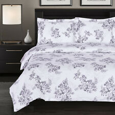 Bally Soft Reversible Duvet Cover Set,3PC fashionable floral Printed Duvet Cover