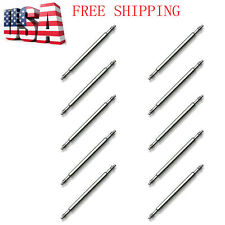 10 PCS Stainless Steel Spring Bar Pins Link For Attaching Watch Band Strap US