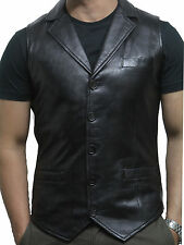 Men's Vintage Leather Waistcoat Jackets Mens Designer Fit Waiscoats and jackets