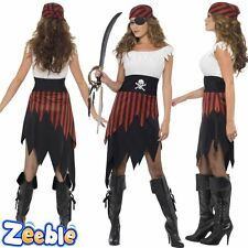 Womens Adult Pirate Wench Lady Costume Buccaneer Ladies Fancy Dress Outfit 8-18