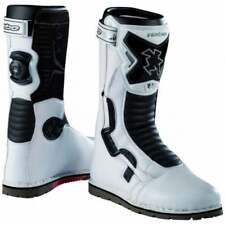 Hebo Adults Tech Comp Motor Bike Motorcycle Trials Boots - White