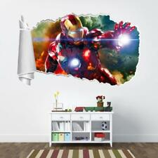 Iron Man The Avengers Torn Hole Ripped Wall Sticker Decal Decor Art Marvel WT253