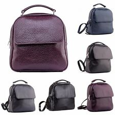 Women's Leather Backpack Rucksack Handmade City Top Italian quality MANY STYLES!