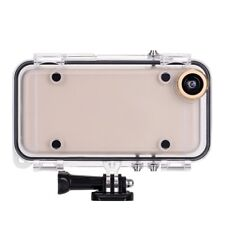 Waterproof Underwater Action Case With Gopro Mount + Wide Angle Lens For iPhone