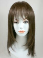 100% Human Hair Shoulder Length Bob Style Wig w/ Bangs Lightweight, Breezy Cap