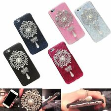 Luxury Fashion Bling Crystal Pearl Pendant Hard Case Cover For iPhone 6 6S 4.7''