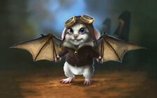 Gifts Art Home Wall Decor Fantasy Bat Pilot Animal Oil Painting print on canvas
