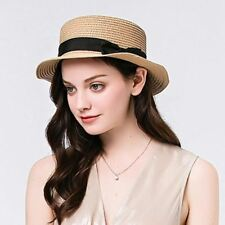 Fashion Women Toquilla Straw Flat Sun Hat For Elegant Lady Fedora Lady Sunbonnet
