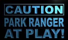 """16""""x12"""" m612-b Caution Park Ranger at Play Neon Sign"""