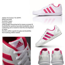 Adidas Authentic LK Trainer Kids Shoes New in Box White and Pink Stripes AF3971