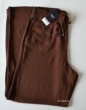 Womens Next Brown Mix Pull On Wide Leg Palazzo Style Trousers, Size 16 Reg, BNWT