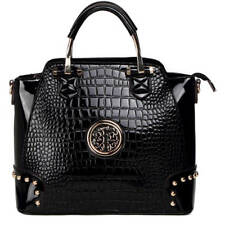 MKF Collection Arianna Croco-textured Satchel by Mia K. Farrow