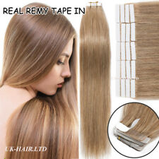"""40 Pcs 100G Skin Weft Tape In Real Virgin Remy Human Hair Extensions US 18"""" I537"""