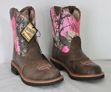 Womens Ariat Fatbaby Heritage Bomber Pink Camo Western Boots