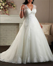 New White/Ivory Wedding Dress Bridal Gown Custom Plus Size:14 1618 20 22 24 26 +