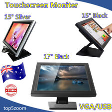 "15/17"" Inch 4-Wire Touchscreen LCD Touch Screen Monitor VGA POS Kiosk Restaurant"