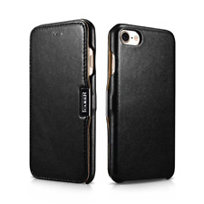 For Apple iPhone 7/8 Plus Genuine Leather Slim Flip Protective Phone Case Cover