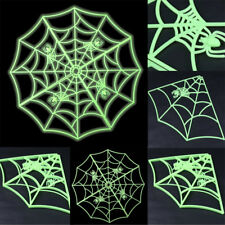 Luminous Spider Web Scary Glowing Halloween Party Creepy Cobweb Props Tricky Toy