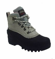 Itasca GRANITE PEAK Womens Off White Suede Rubber Warm Winter Hiking Snow Boots