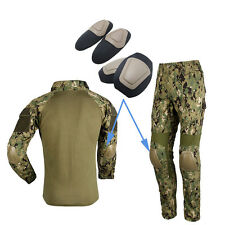 Tactical Combat Clothing Camouflage US Uniform Kneepad Elbow Pads for BDU