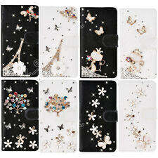 Rhinestone Case Cover Crystal Wallet Bling Diamond Cases Protective for Samsung