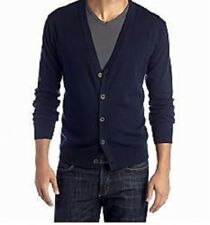 Saddlebred Men's Long Sleeve Button Front V Neck Cardigan Sweater 100% Cotton