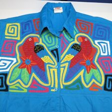 MY NAME IS PANAMA Embroidered Parrot BUTTON UP BAHAMA SHIRT Sz Mens XXL  Rare