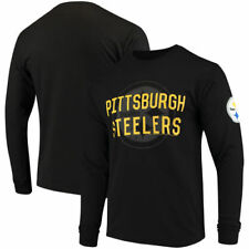 Pittsburgh Steelers Junk Food 17 Mens Fade Route  Smu T-Shirt - Black
