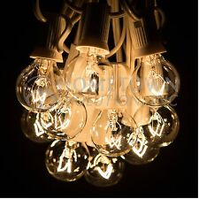 50 Foot - G30, G40 and G50 Globe String Lights for Backyards Parties and more
