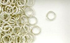 Sterling Silver 8mm Round Jump Rings, Choice of Lot Size & Price