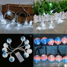 10 Leds String Fairy Light Battery Operated Xmas Lights Party Wedding Home 165CM
