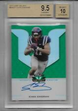 2017 Leaf Valiant Evan Engram RC Prismatic Auto SP 18/50 BGS Graded Gem Mint 9.5