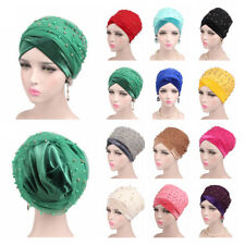 Women Muslim Indian Hat Turban Cancer Chemo Hair Loss Cap Ladies Headwrap Scarf