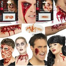 Halloween Zombie Scars Fake Stiches Scab Temporary Blood Bite Wound Make Up