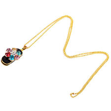 Luxury Jewelry Colorful Flower USB2.0 Flash Drive Thumb Pen Drive & Necklace