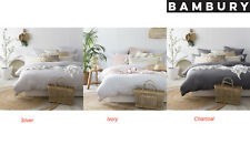 Bambury 100% French Linen Quilt Cover Set Super King, King & Queen Bed Sizes
