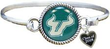 Custom South Florida Bulls Bangle Bracelet Class of 2017-2025 Graduation USF