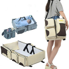 Baby Travel Bassinet Outdoor Portable 3in1 Changing Station Baby Crib Diaper Bag