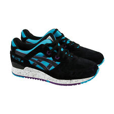 Asics Gel Lyte Iii Mens Black Suede Athletic Lace Up Running Shoes