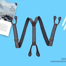 Unisex Elastic Y-Shape Braces Braces Strap Adjustable Clip-on Suspenders Casual