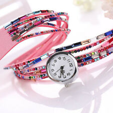 Quartz Wrist Watch Crystal Women's Bangle Bracelet 1 Pcs Wrist Watch Beaded