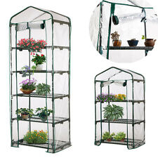 4-Tier Garden Greenhouse Tall Green Hot Plant House Shed Storage PVC Cover Apex