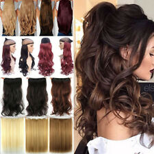 Real Thick Clip in on Hair Extensions Long One Piece Full Head As Human Hair FR5