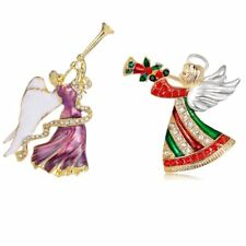 Lovely Crystal Angel Brooch Pin Womens Wedding Christmas Party Gift Jewelry New