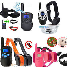 2 Dogs LCD Shock&Vibrate Remote Dog Pet Training Collar Waterproof Rechargeable