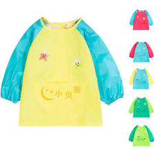 Waterproof Baby Toddler Long Sleeve Children Painting Feeding Smock Apron