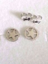 Mens Ladies 925 Sterling Silver Tiny Small Star Stud Earrings Gift 7 mm Diameter