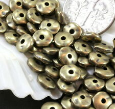 Nugget Beads, Tierracast Coin Beads, 7mm Spacers, Antq Brass 20/100 Pieces, 3627